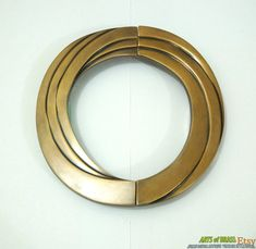 6.61 inches Big Vintage Solid Brass Retro Swirl by ArtsofBrass, $26.00
