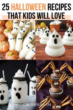 25 Best Halloween Recipes That Kids Will LOVE | Halloween Treats For A Party. As Halloween is approaching, now it's time to think about some awesome Halloween food ideas for kids. Check out these spooky Halloween treats, Halloween desserts and Halloween recipes for inspiration ! #halloween #food #halloweenfood #halloweenrecipes #halloweentreats #treats #party #partyideas #halloweendesserts #chicpursuit