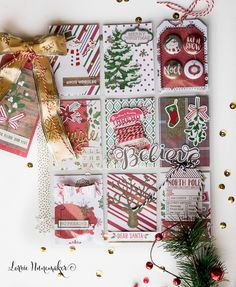 I have been making Christmas Pocket Letters. I have been making A LOT of Christmas Pocket Letters. I may have gone overbo. Pocket Pal, Pocket Cards, Christmas Paper Crafts, Christmas Tag, Christmas Themes, December Daily, Project Life, Pocket Scrapbooking, Pocket Letters