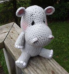 Baby Hippo Amigurumi Crochet Pattern - $4.50 by Lisa Jestes