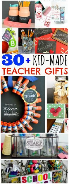 Show your favorite educator just how special they are! 30 of the cutest, cleverest, and most useful DIY teacher appreciation gifts - EASY and frugal! Perfect for Christmas, holiday, and end of year.