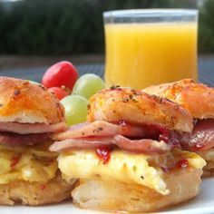 Habanero Honey Country Ham Biscuits Recipe