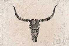 Longhorn Skull Art Print