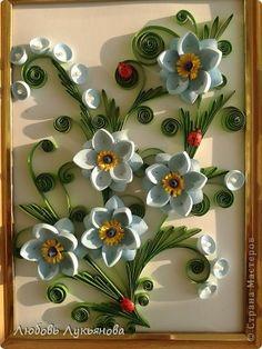 Картина панно рисунок Квиллинг Квиллинг с Любовью 11 Бумажные полосы фото 1