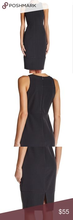 """Alexia Admor Black Dress Sleeveless Seamed Sheath Dress                                         -Mock neck  - Sleeveless  - Back zip closure  - Center panel  - Back slit  - Approx. 40.5"""" length - Imported Fiber Content Self: 95% polyester, 5% spandex  Lining: 100% polyester Care Dry clean Additional Info Fit: this style fits true to size. Alexia Admor Dresses"""
