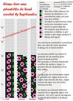 * Tupilandia: Cómo leer una plantilla de Bead Crochet by Tupilandia