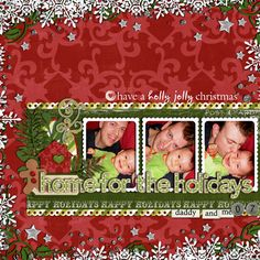 Page by @Ingrid Taylor Fasquelle   | Candy Cane Christmas Kit from Peppermint Creative #christmas #digiscrap