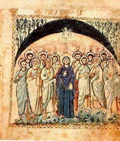 Pentecost, The Rabbula Gospels, 6th-century illuminated Syriac Gospel Book