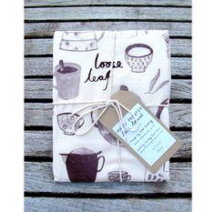 Hand Printed Coffee & Tea Tea Towel