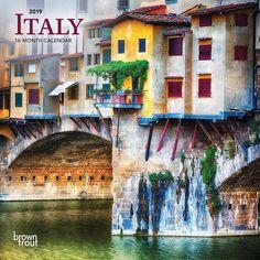 4824f83240602 Italy 2019 7 x 7 Inch Monthly Mini Wall Calendar