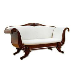 Biedermeier Sofa in Mahogany, Northern Europe, c. 1840
