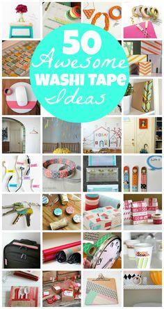 50 Washi Tape Ideas gifts made Washi Tape Uses, Washi Tape Crafts, Duck Tape Crafts, Masking Tape, Paper Crafts, Washi Tapes, Duct Tape, Crafty Craft, Diy Craft Projects