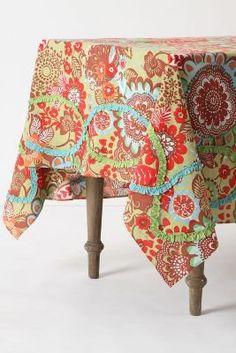 Tahitian Vine Tablecloth - Anthropologie.com