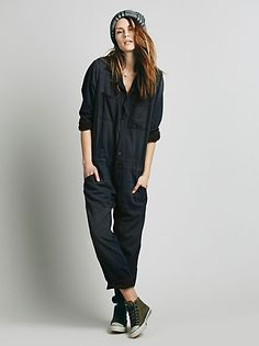 Free people 'Mechanic Jumpsuit'  as long as we're dreaming here, I've always wanted a designated painting smock so I wouldn't have to ruin my clothes. of course, this one is $500 so maybe I should steal one from a mechanics garbage can instead