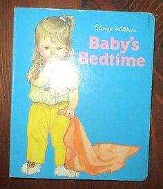 Eloise Wilkin BABY'S BEDTIME 1985 Board Book Very Hard to Find -  B8A