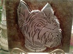 chester the westiemetal work hand made by la roca gallery by