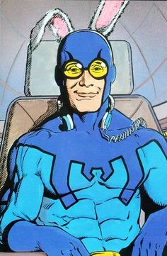 Blue Beetle Ted Kord by Kevin Maguire and Joe Rubenstein Superhero Characters, Dc Comics Characters, Dc Comics Art, Fun Comics, Make A Comic Book, Comic Books Art, Book Art, Comic Style Art, Marvel Comic Character