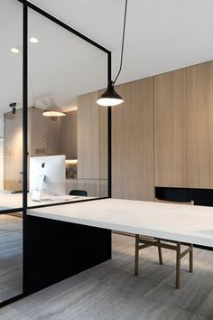 Office - natural stone floors by Hullebusch