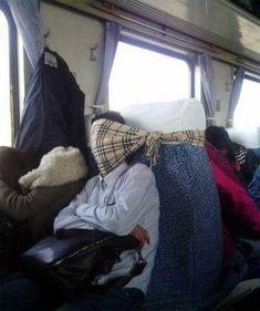 Lifehack des Tages – Schlafen im Zug :-)