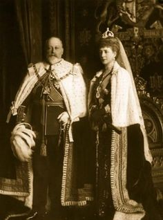 Edward VII and Alexandra, King and Queen Consort of the United Kingdom of Great Britain.