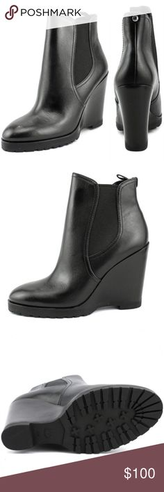 NEW Michael Kors Thea Wedge Boots Bootie The Michael Michael Kors Thea Wedge Boots feature a Leather upper with a Round Toe . The Man-Made outsole lends lasting traction and wear. Retail $170. Michael Kors Shoes Ankle Boots & Booties