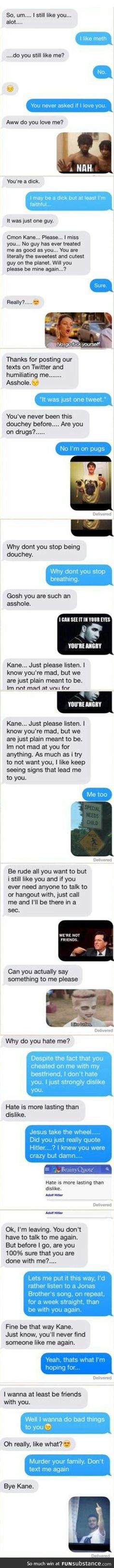 How to deal with a b*tch ex-gf.. this is so cool