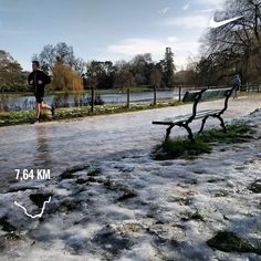 Vincennes on ice #neige #glace #verglas #running