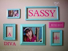 love this gallery wall for KM's room