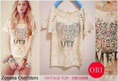 let's shop here : ZENANA OUTFITTERS vintage top - dreamer * ORI