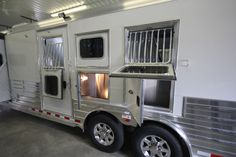 Looking for a custom 4-Star LQ horse trailer? Look at this 2017 4-Star 3 Horse Gooseneck Trailer w Trail Boss LQ from Triple C Trailer Sales Inc.