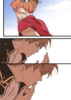 Okita Sougo x Kagura Anime Couples Manga, Cute Anime Couples, Manga Anime, Kamui Gintama, Okikagu Doujinshi, Percy Jackson Art, Haikyuu Fanart, Manga Games, Kawaii Cute