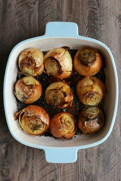 whole roasted onions- joy the baker            Here's how this is going to go down, my friends:  whole roasted sweet yellow onions, roasted with olive oil and butter, roasted with rosemary, roasted whole, roasted to sweet submission.   It's cold.  I mean… really cold.  Here's our chance to crank up the oven, throw these onions insideRead more
