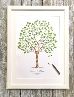 Wedding tree guest book. For those who would like a tree but without the fingerprint ink pads. Leave as are already included ready for your guest's signatures.