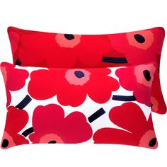 Marimekko Magenta and Red Pillow This would also go well with a smiley chair to put in the corner of a sitting room for a reading spot! Ikea, Poppy Decor, Bed Linen Design, Red Pillows, Design Your Home, Organizer, Linen Bedding, Trends, Color Inspiration