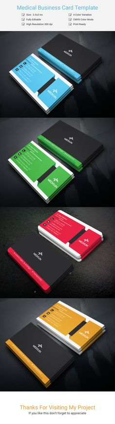 Medical Business Card Template on Behance