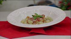 Nhoque de batata-doce com castanha-do-pará