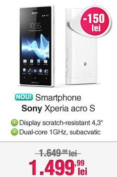 150 de lei Reducere la Sony Xperia acro S