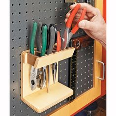 Pegboard organization ideas (includes plans and measurements)