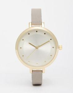 ASOS – Uhr mit großem Zifferblatt und erhabenen Stundenmarkierungen