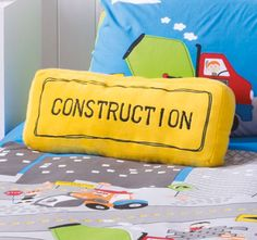 cubby-house-kids-under-construction-filled-cushion Cubby Houses, Quilt Cover Sets, Cubbies, Lunch Box, Cushions, Construction, Throw Pillows, Quilts, Kids