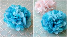 How to make Tissue Paper Pom Poms for easy party decorations!
