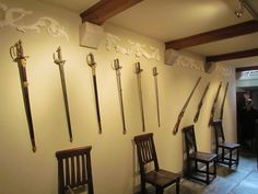 Weapons room - St. Michael's Mount - Cornwall, England