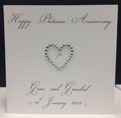 Personalised 70th Platinum 60th Diamond 50th Gold Wedding Anniversary Card On EBay