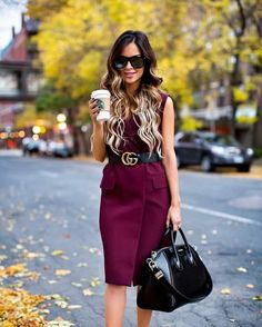 5370b8a9a6 Fave  My Must-Have Sunglasses For Fall - Saint Laurent Sunglasses     Topshop Burgundy Sleeveless Blazer via Nordstrom   Gucci Double G Belt     Givenchy   ...