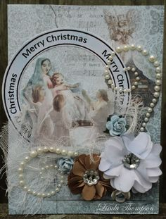 2013  FWAB Linda Thompson, Flourish, Merry, Bling, Scrapbook, Projects, Christmas, Design, Log Projects