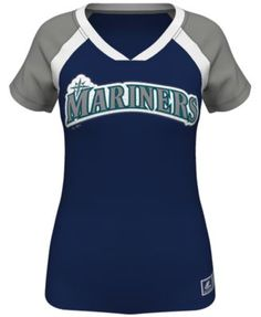 Majestic Women's Short-Sleeve Seattle Mariners Fashion Top