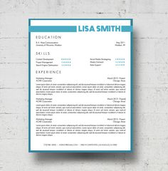 looking for a professional resume template the kara minot design is for you the