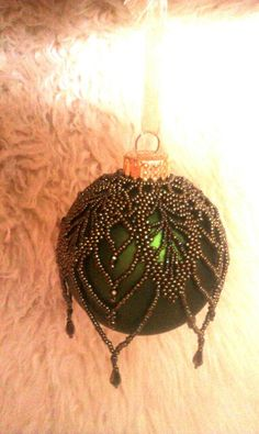 Brown Iris Beaded Ornament Cape $50.