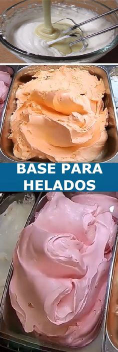 Realiza una Base para Helados caseros con solo 2 ingredientes!   #helados #base #heladitos #receta #recipe #panes #panecillos #pancitos #pan #casero #tartas #pastel #nestlecocina #bizcocho #bizcochuelo #tasty #cocina #cheesecake #postres #gelatina #gelato #flan #budin #pudin #flanes #cakes #panfrances #panettone #pantone #panetone #navidad #chocolate   Si te gusta dinos HOLA y dale a Me Gusta MIREN... Ice Cream At Home, Frozen Meals, Ice Cream Recipes, Creative Food, Pan Dulce, Sweet Recipes, Dessert Recipes, Food And Drink, Cooking Recipes
