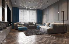 Heracleum the Big O by Bertjan Pot via Moooi | www.moooi.com | #livingroom #interiordesign #interior #lighting #unique #blue #grey #brown #woodenfloor